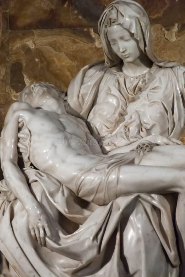 Michelangelo Pieta w St Peter katedrze obraz royalty free