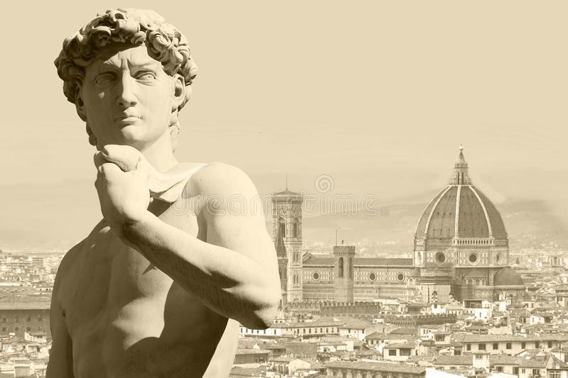 Michelangelo ` s David royaltyfri foto