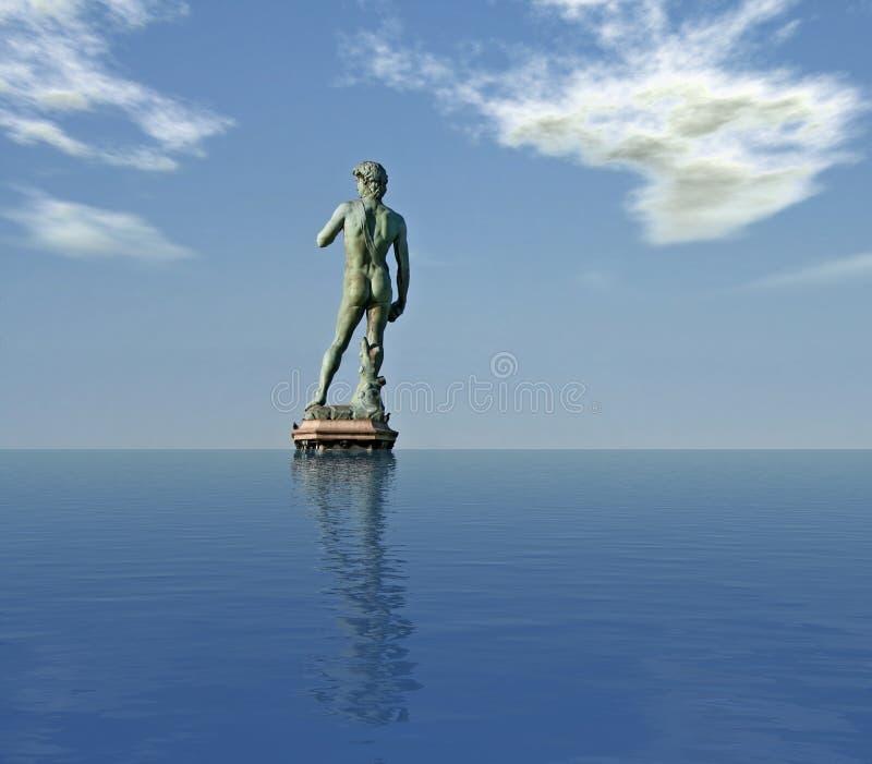Michelangelo's David - Digital Composition royalty free stock photos