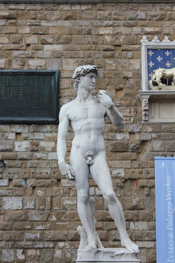 Michelangelo's David, Florence royalty free stock photos