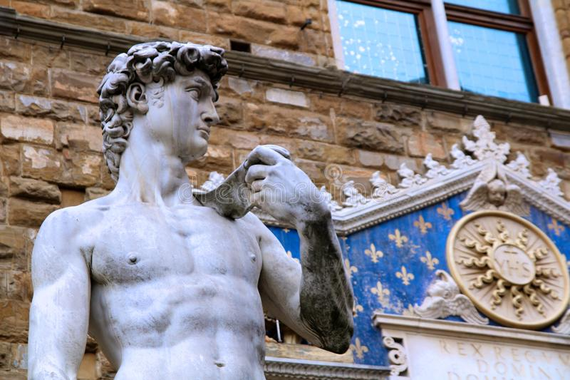Michelangelo`s David Statue in Florence royalty free stock photos