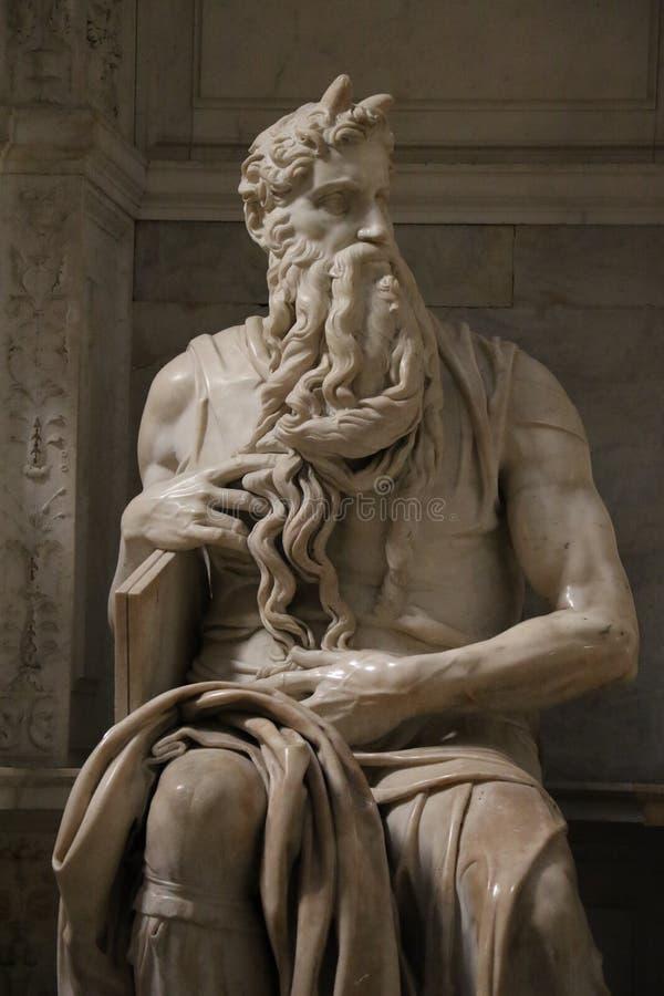 Download Michelangelo& x27; s Moses arkivfoto. Bild av turism - 76704190
