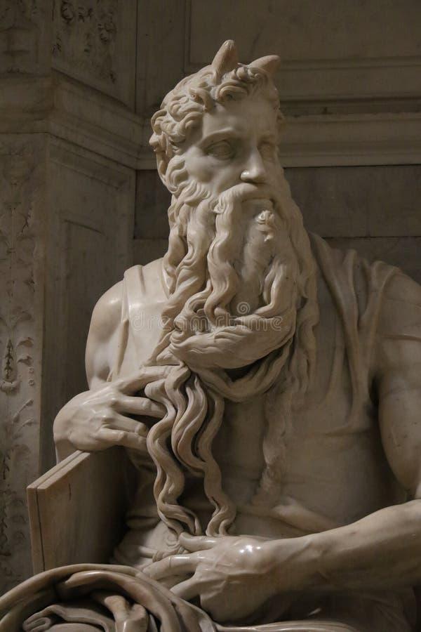 Download Michelangelo ` s Moses arkivfoto. Bild av rome, huvud - 76704206