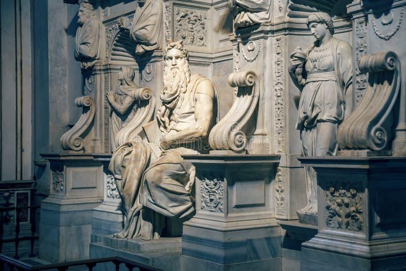 Michelangelo-` s Moses in der Basilika 2 stockbild