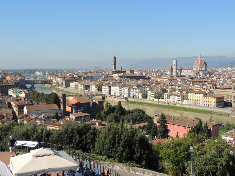 Michelangelo Square Florence photo stock
