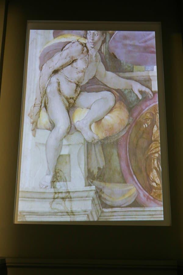 Michelangelo wystawa przy national gallery - Tbilisi Gruzja obraz royalty free
