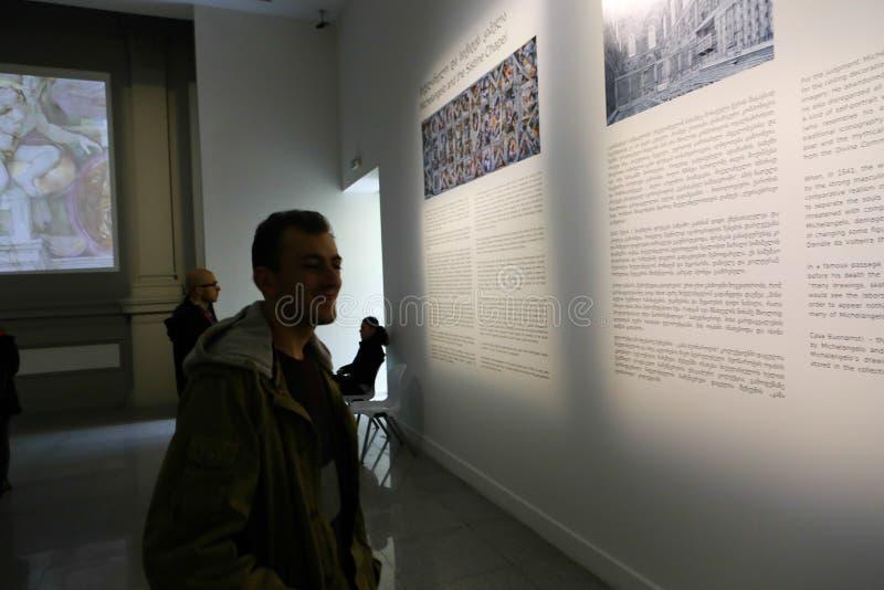 Michelangelo wystawa przy Tbilisi zdjęcie royalty free
