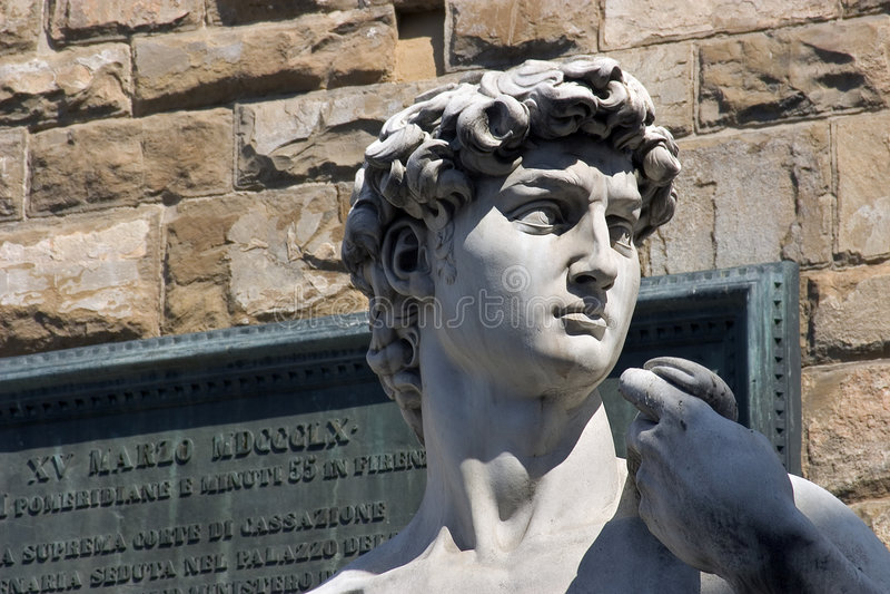 Michelangelos David in Florenz - Italien stockbild