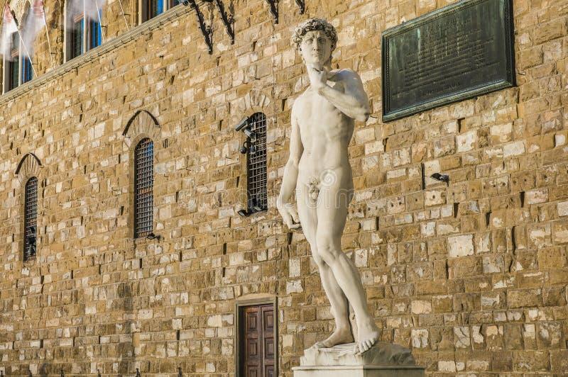 Michelangelos David staty i Florence, Italien fotografering för bildbyråer