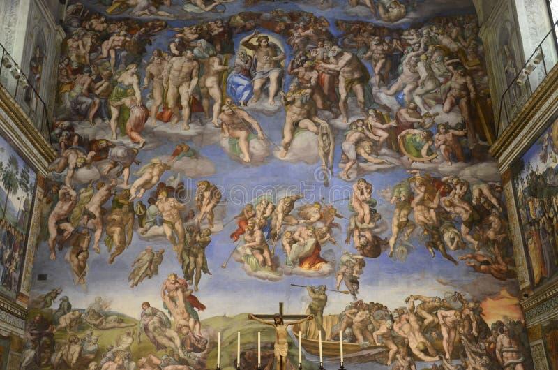 Michelangelos letztes Urteil lizenzfreie stockfotos