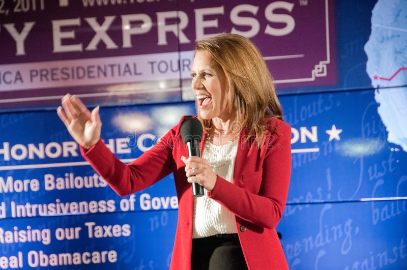 Michele Bachmann royalty free stock image