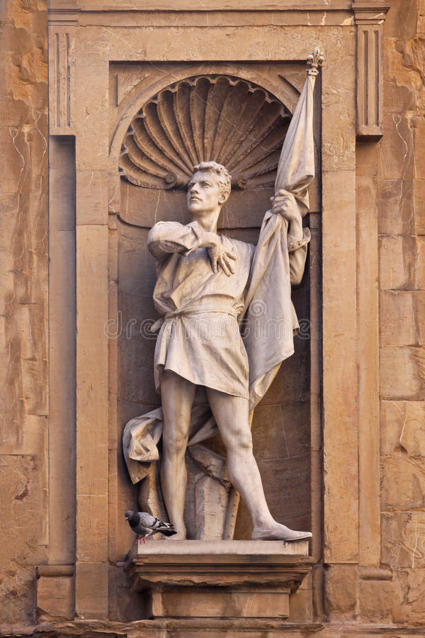 Michele di Lando staty royaltyfri bild