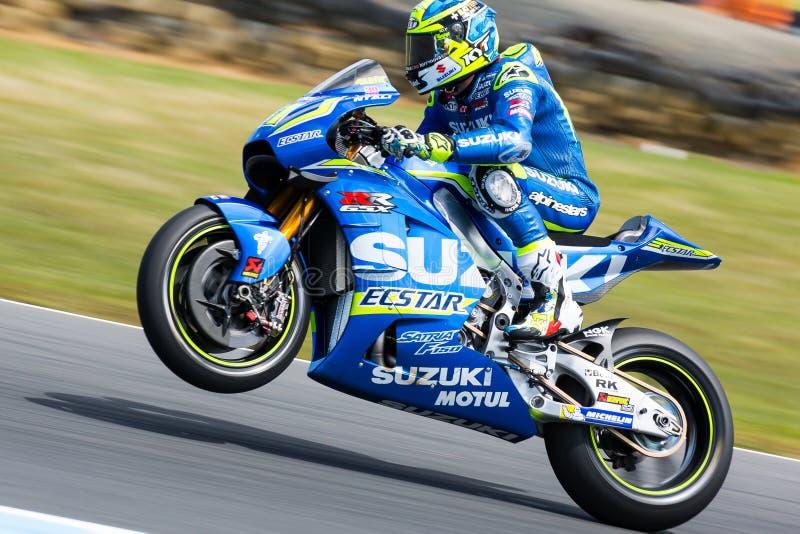 2016 Michelin Australian Motorcycle Grand Prix. MELBOURNE, AUSTRALIA – OCTOBER 23: Aleix Espargaro (ESP) riding the # 41 Team Suzuki Ecstar's Suzuki stock images