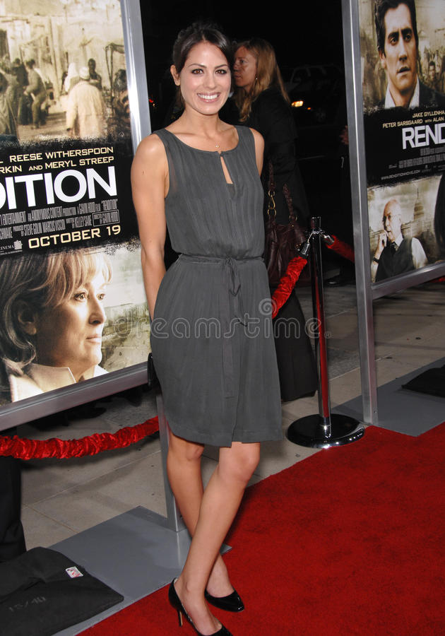 Michelle Borth. At the Los Angeles premiere of Rendition at the Academy of Motion Picture Arts & Sciences Theatre, Beverly Hills. October 11, 2007 Los Angeles royalty free stock image