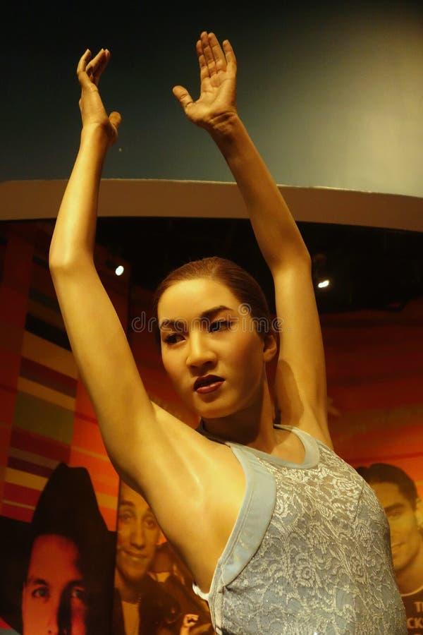 Michelle Kwan Wax Figure photographie stock