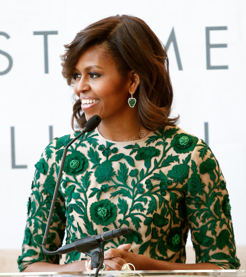Michelle Obama royalty-vrije stock foto