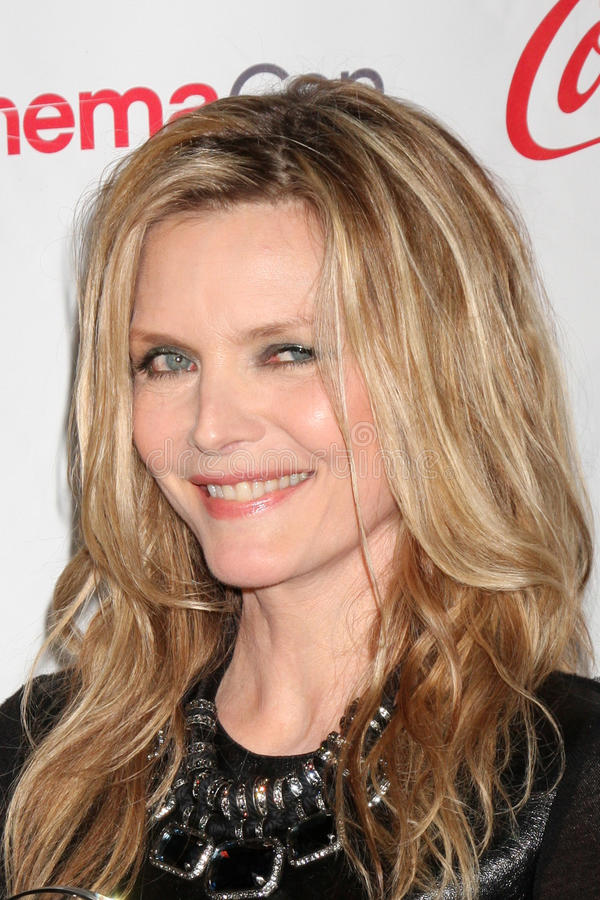 Michelle Pfeiffer Arrives At The CinemaCon 2012 Talent Awards Editorial Photo
