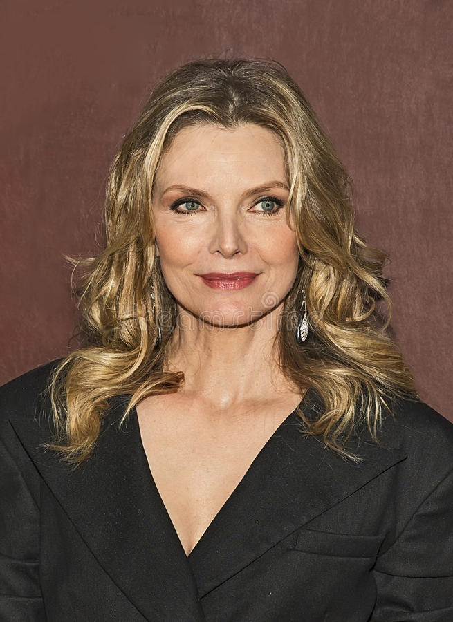 Michelle Pfeiffer. Stunning actress Michelle Pfeiffer arrives for the New York City premiere of `The Wizard of Lies,` at the Museum of Modern Art MOMA on May 11 royalty free stock photography