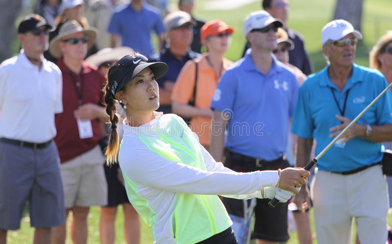 Michelle Wie przy ANA inspiraci golfa turniejem 2015 obrazy stock