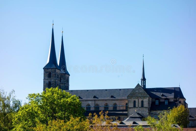 Michelsberg opactwo w Bamberg przy bavaria Bayern Germany obrazy royalty free