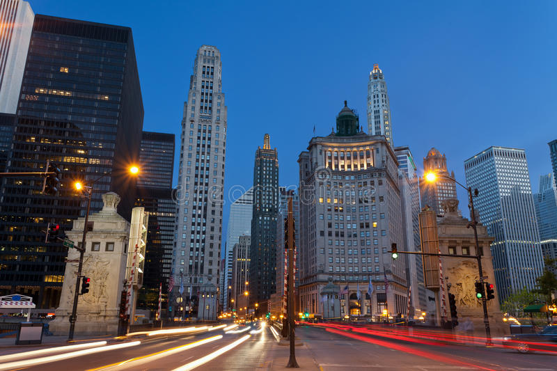 Michigan-Allee in Chicago. stockfotos