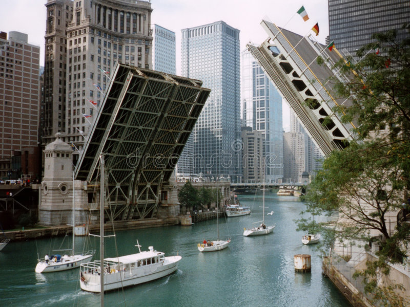 Michigan Avenue Bridge royalty free stock photos