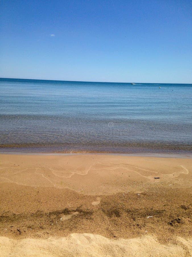 Michigan Beach stock image