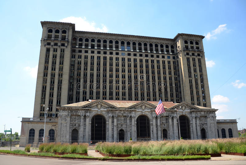 Michigan Central Depot, Detroit royalty free stock image