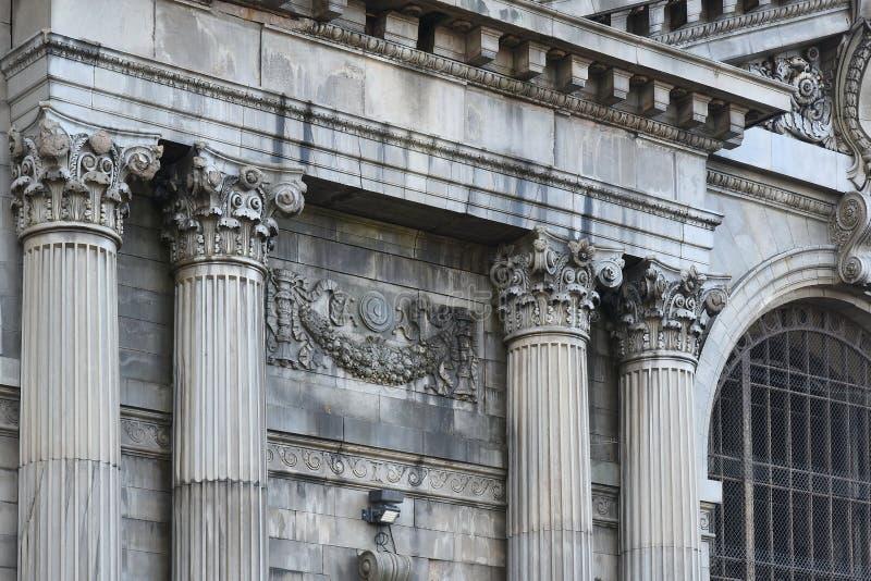 Michigan central järnvägstation, Detroit royaltyfri bild