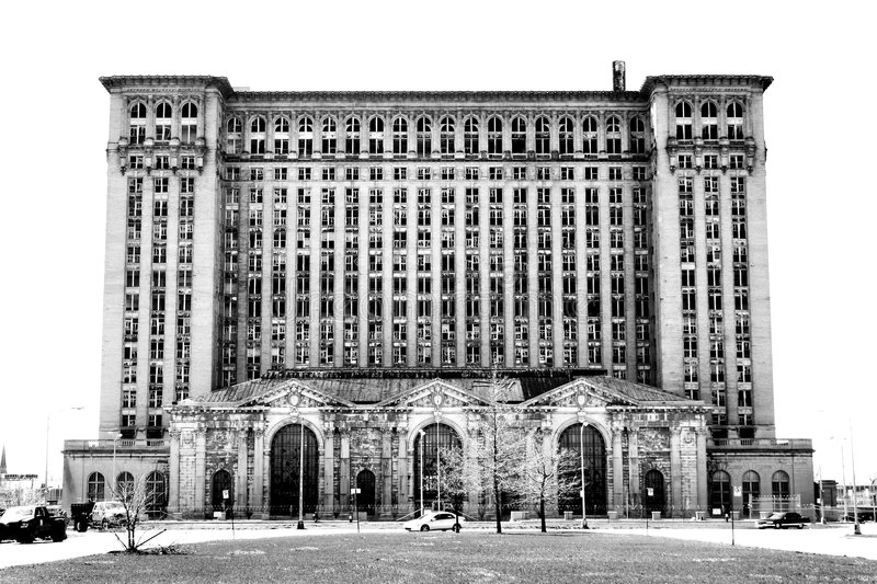 Michigan Central Station, Detroit, Michigan royalty free stock photography