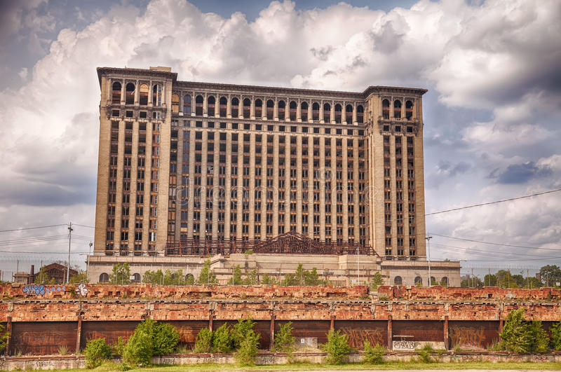 Michigan Central Station royalty free stock images