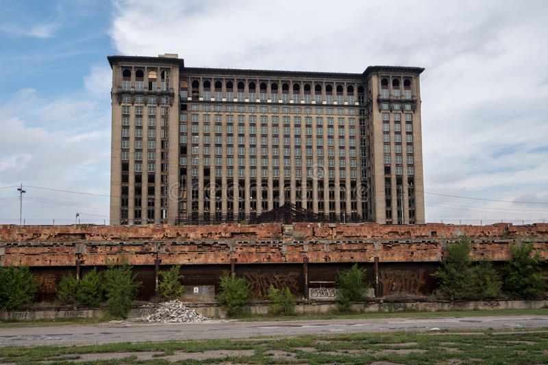 Michigan Central Station, Rear, Windows stock images
