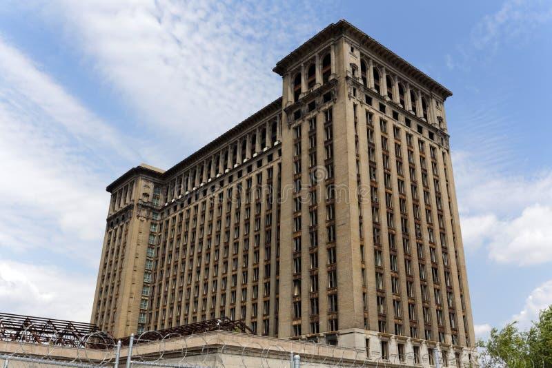 Michigan centralstation arkivfoto