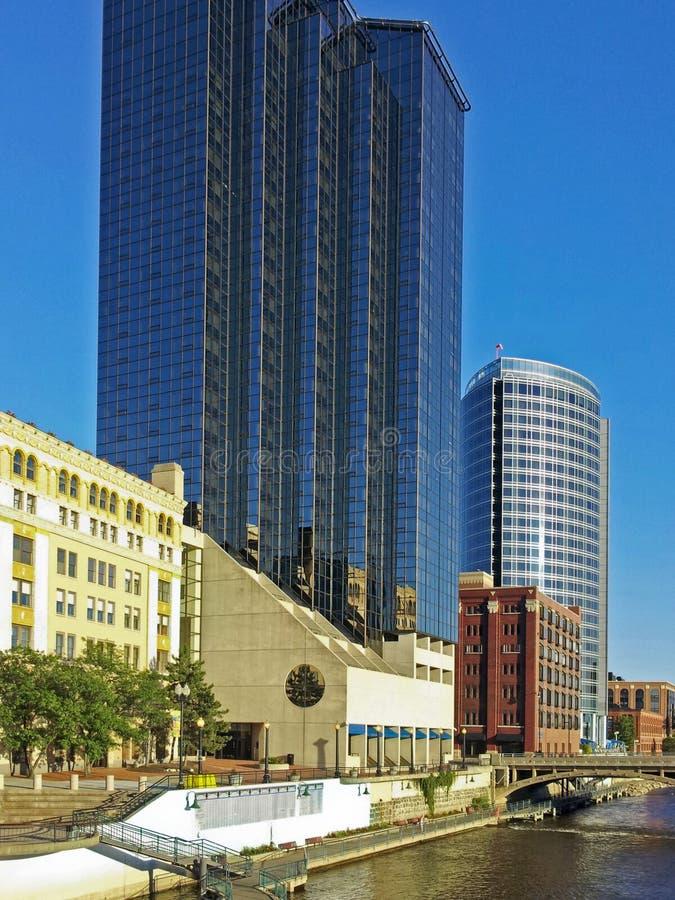 Grand Rapids Michigan cityscape royalty free stock image