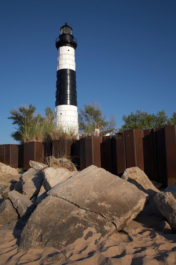 Michigan Lighthouse. Big Sable Point Lighthouse, Lake Michigan stock photography