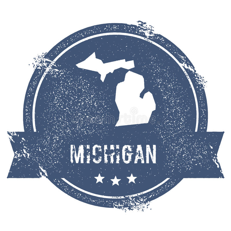 Michigan mark. royalty free stock image