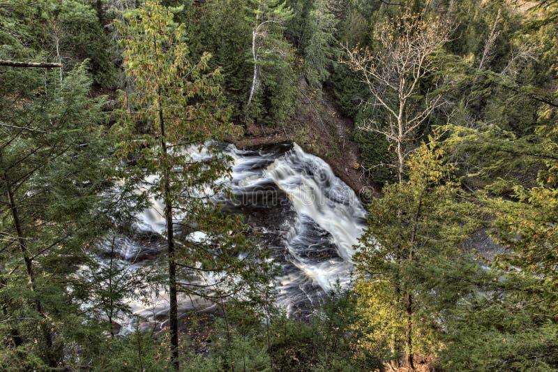 Michigan Norteño ENCIMA De Caídas De La ágata De Las Cascadas Imágenes de archivo libres de regalías