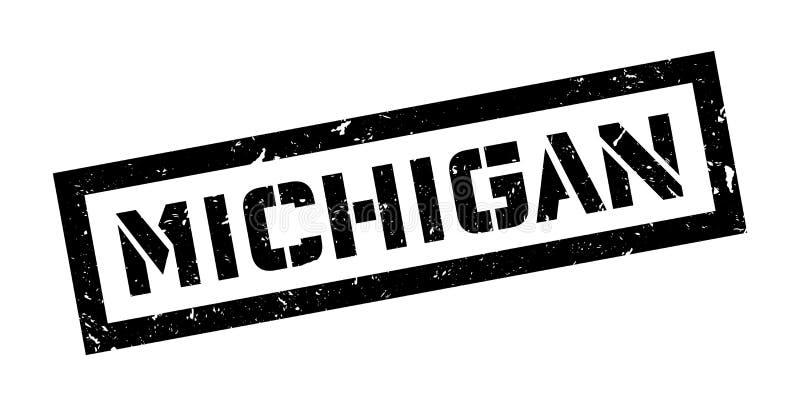 Michigan rubber stamp royalty free illustration