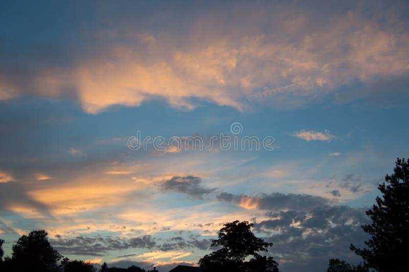 Michigan solnedgång arkivfoto