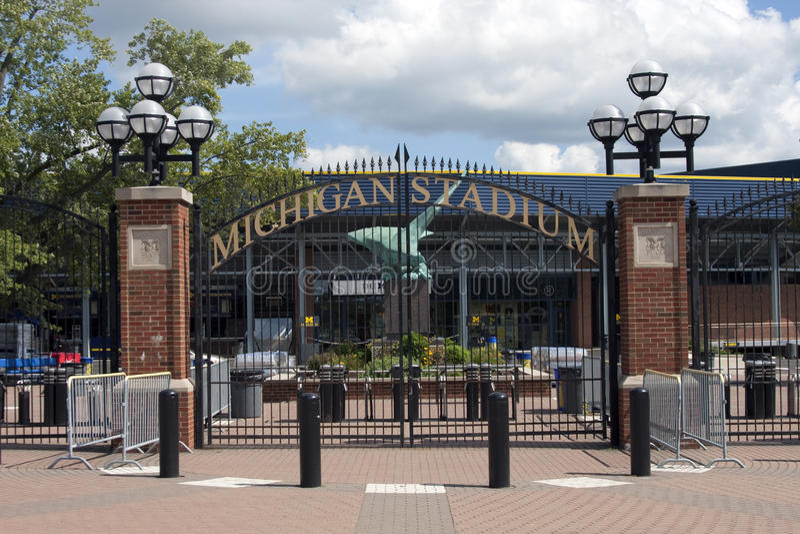 Michigan-Stadion - das große Haus stockfoto