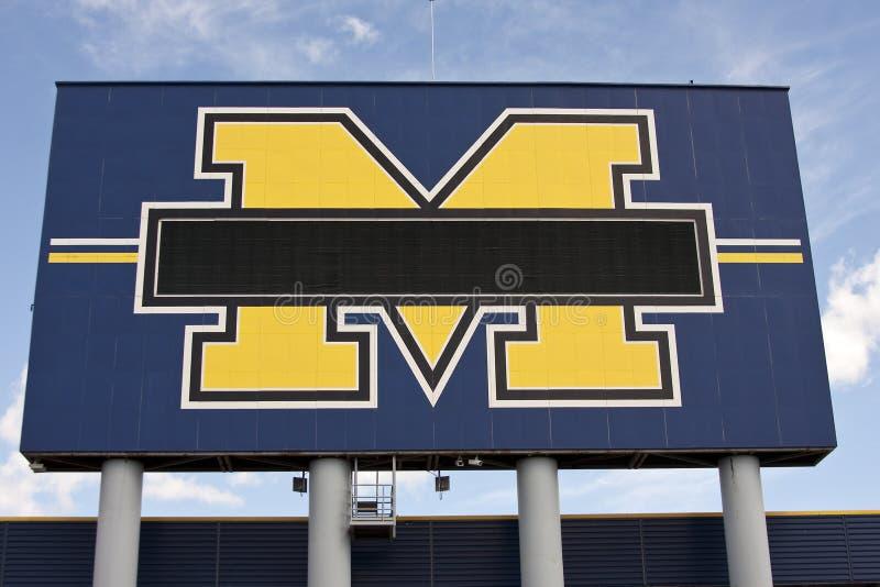 Michigan Stadium - the Big House stock photography
