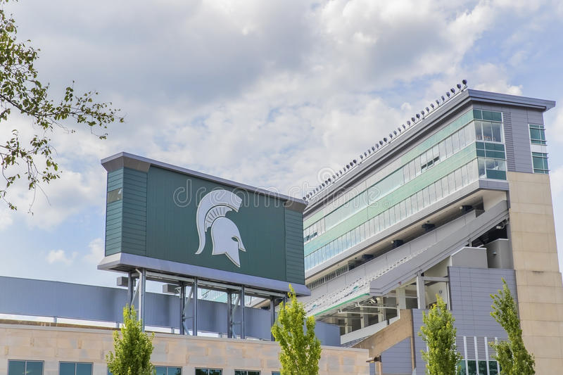 Michigan State University Spartan Stadium. Michigan State University MSU is a public research university in East Lansing, Michigan, United States. MSU was stock image