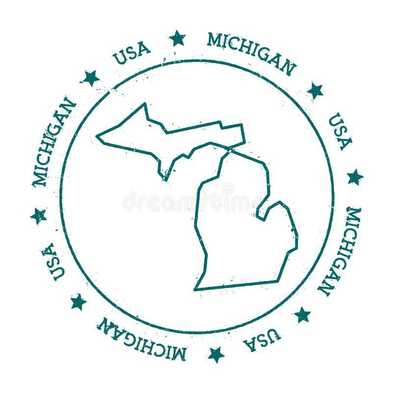 Michigan wektorowa mapa ilustracji
