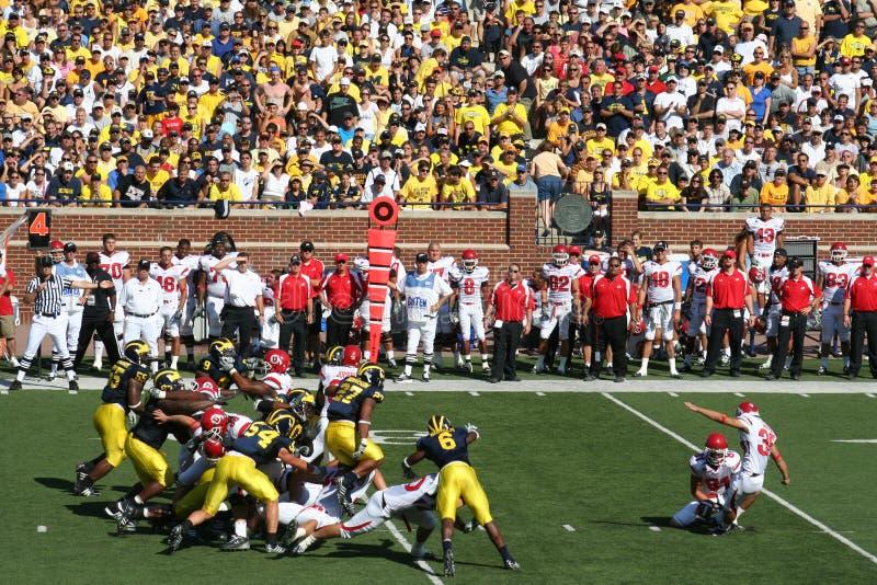 Download Michigan Wolverines Field Goal Block Editorial Stock Photo - Image: 6779958