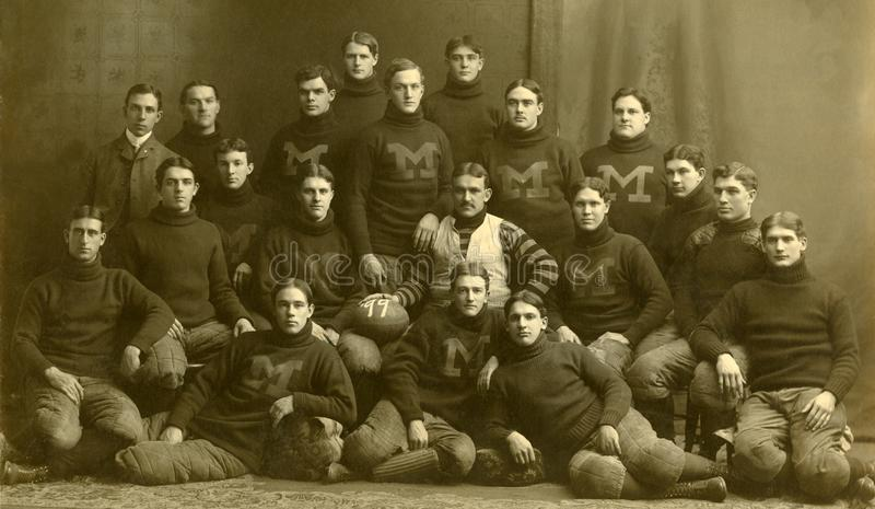 Michigan Wolverines i 1899 arkivfoto