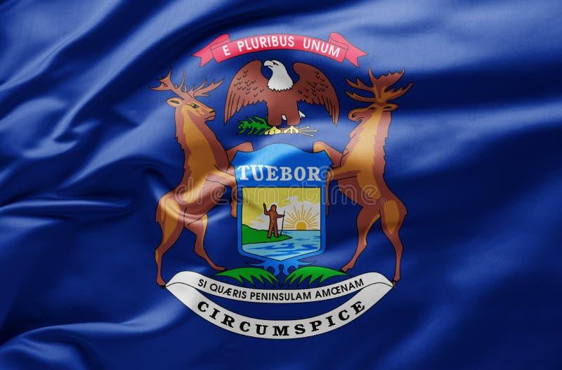 Michigans flaggstat - Förenta staterna arkivfoton
