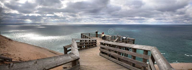 Michigansee übersehen stockbild
