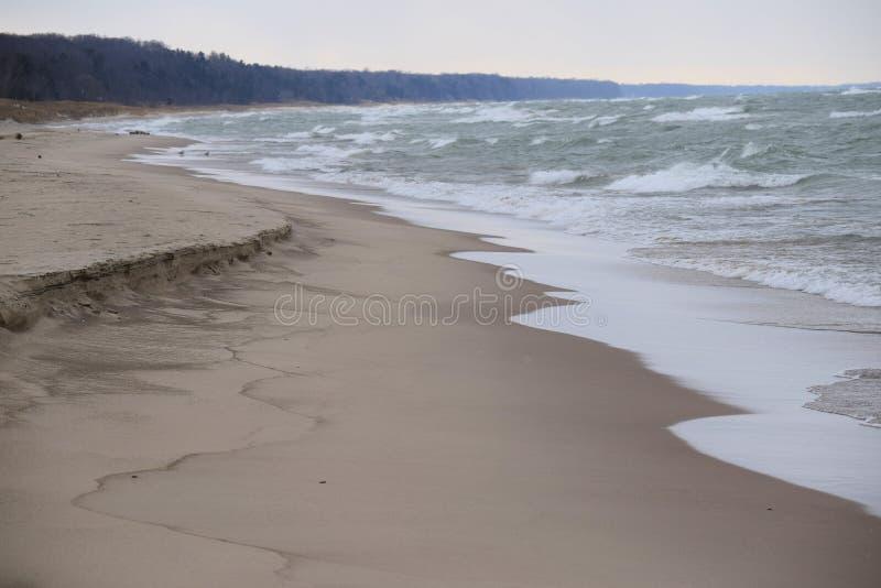 Michigansee-Küste lizenzfreies stockbild