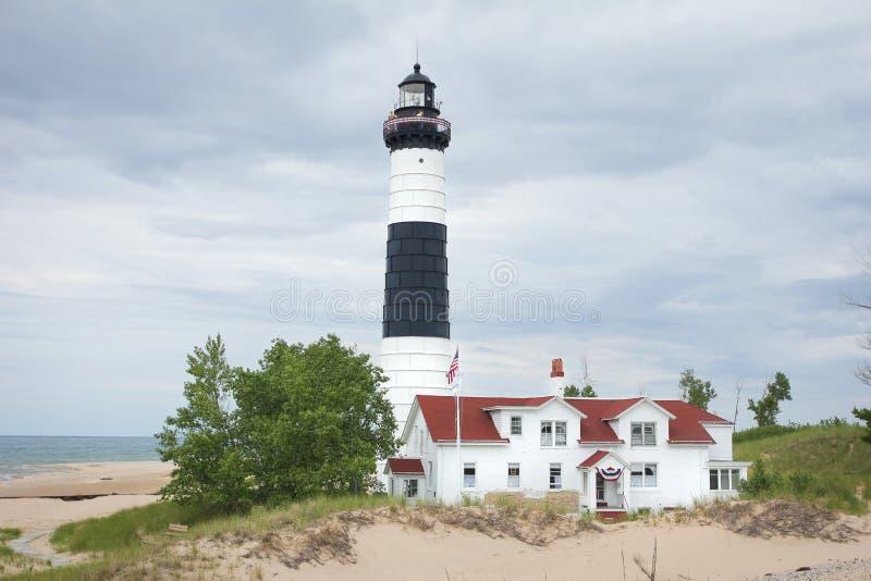 Michigansee-Leuchtturm lizenzfreies stockbild