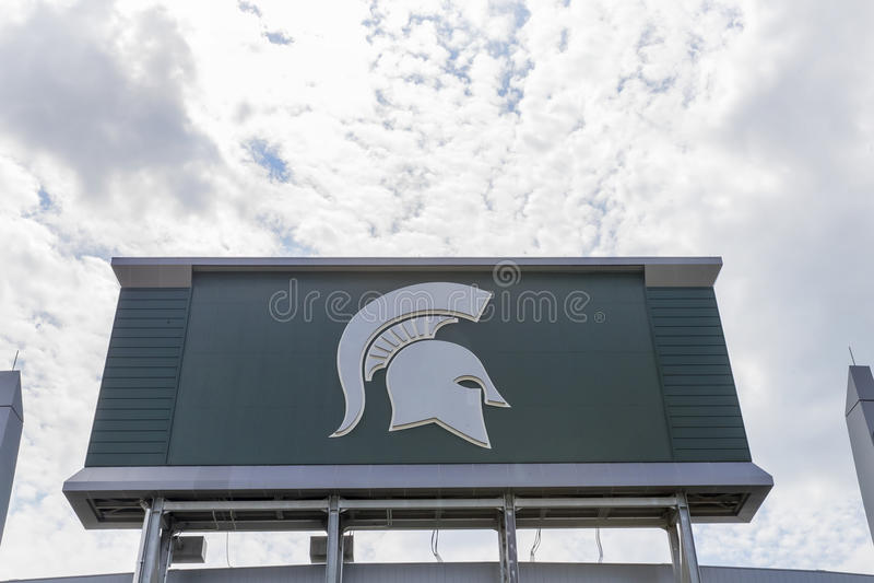 Michiganuniversitet Spartan Stadium arkivfoton